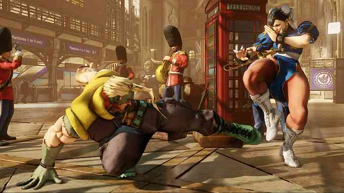 Street fighter V screen