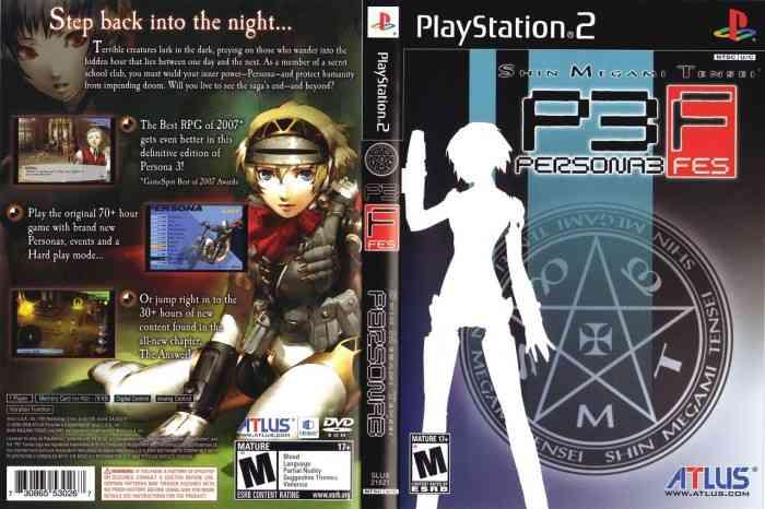 Persona 3 FES The Verdict Top Screen