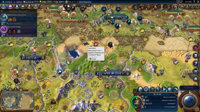 New Civilization VI Civ Top Screen