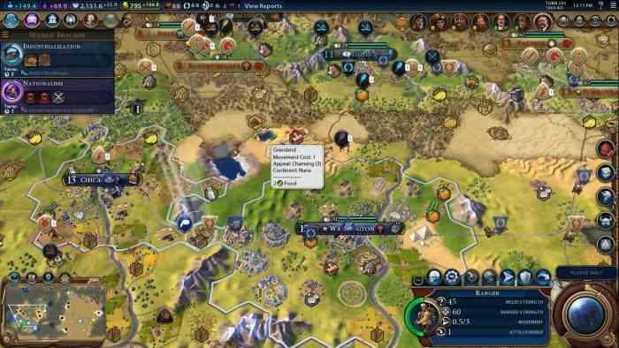 Civilization VI Civ Top Screen