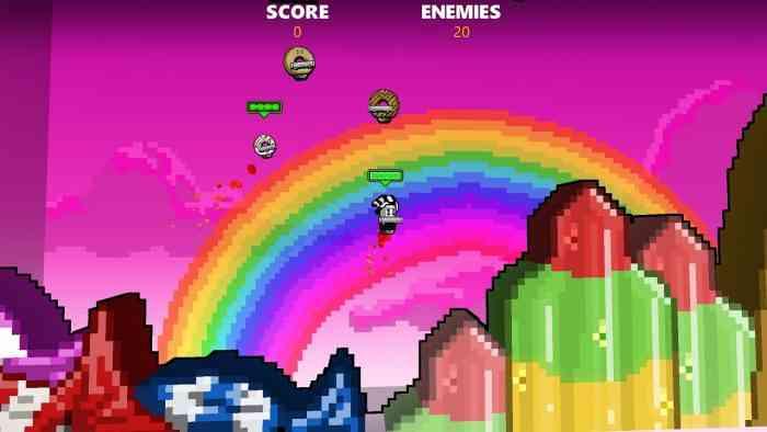 Rocket Riot Top Screen