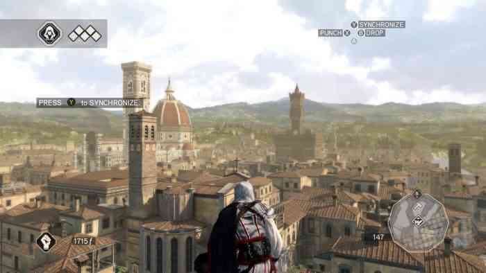 Assassin's Creed: The Ezio Collection Top Screen