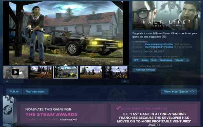 Valve introduces histograms to Steam reviews to combat review bombing