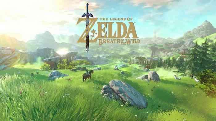 Zelda Breath of the Wild Nintendo Switch Top Screen