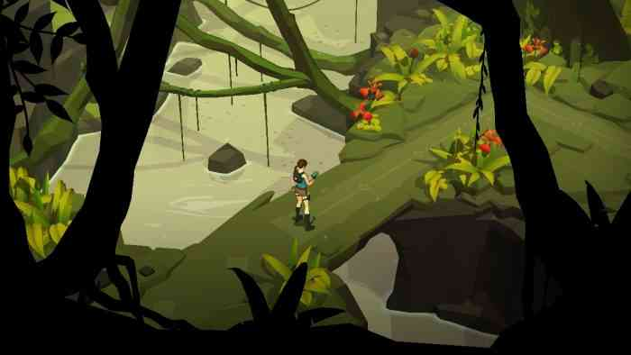Lara Croft GO Top Screen