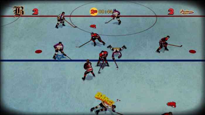 Old Time Hockey Top Screen