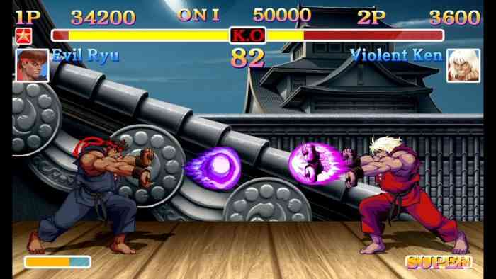 street fighter 2 top screen