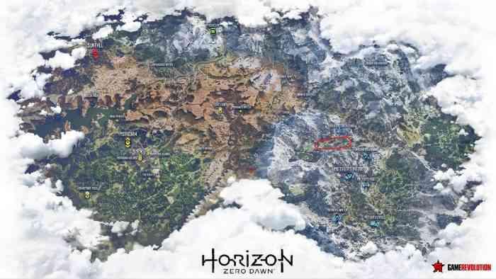 Horizon Zero Dawn map