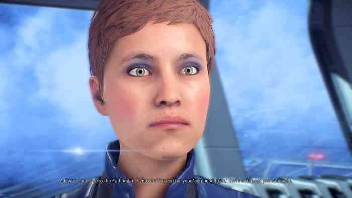 Mass Effect Andromeda face animation