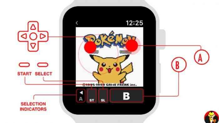 Pokemon Yellow Apple Watch emulator