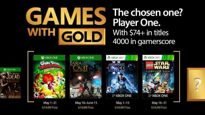 Games with Gold May 2017