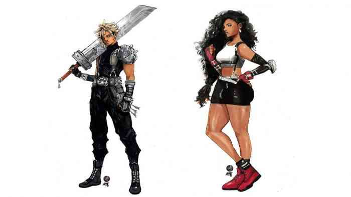 FF7 Main Cast Cloud Tifa