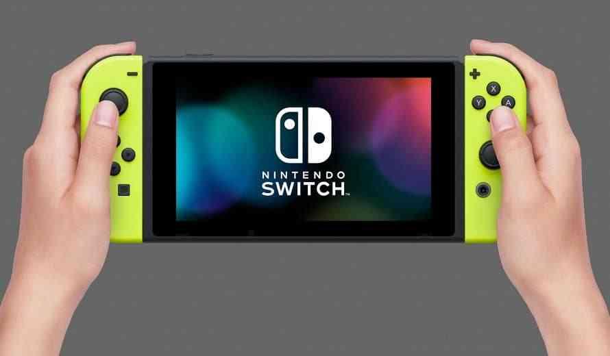 Nintendo Switch yellow joy-con