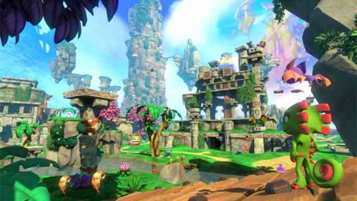 Yooka-Laylee's big open worlds