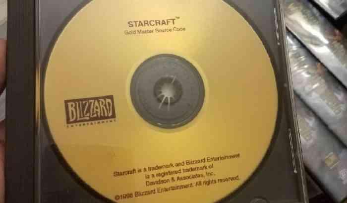 Starcraft Gold Master Source Code Disc