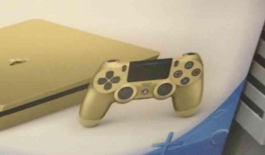 golden playstation 4 displayed at walmart before sony 39 s reveal. Black Bedroom Furniture Sets. Home Design Ideas