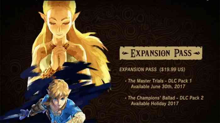 Zelda Breath of the Wild DLC second expansion