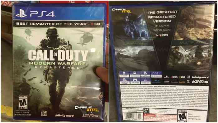Call of Duty: Modern Warfare Remastered Retail Release Could Be Happening