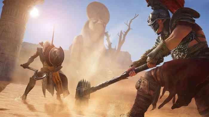assassin's creed origins fight top