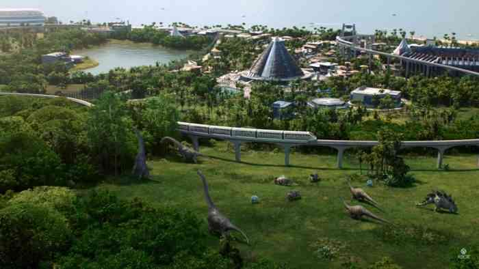 Build your own dinosaur theme park in Jurassic World Evolution