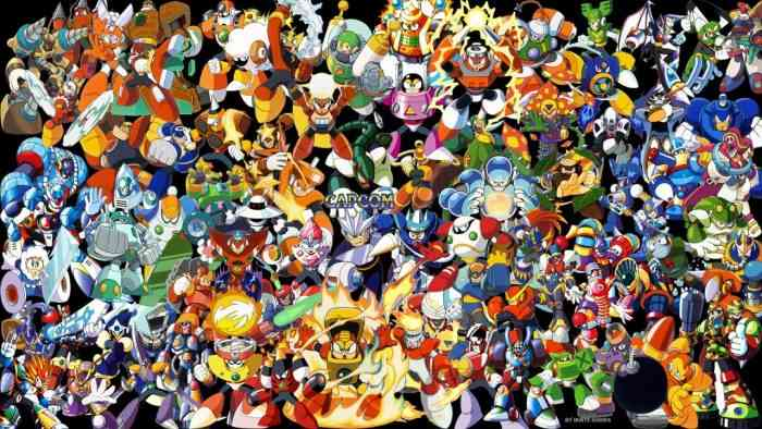 Mega Man Robot Masters TOP SCREEN