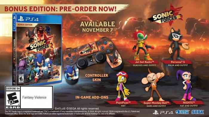 Sonic Forces Releases on November 7, Bonus Edition Is $40