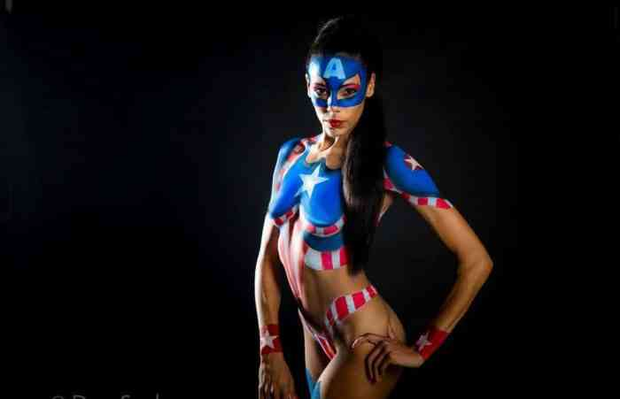 Super Hero Body Paint Cosplay 2