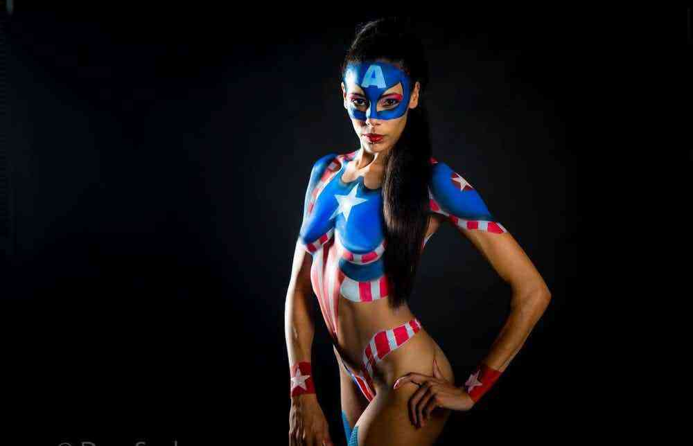nude-females-in-superhero-body-paint-retro-vintage