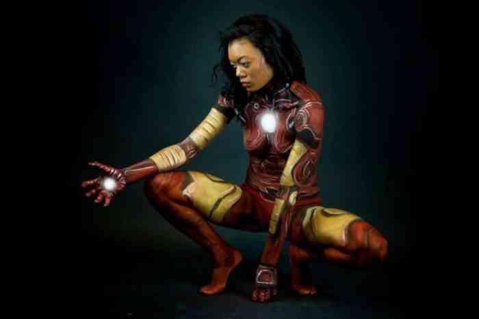 Super Hero Body Paint Cosplay 15