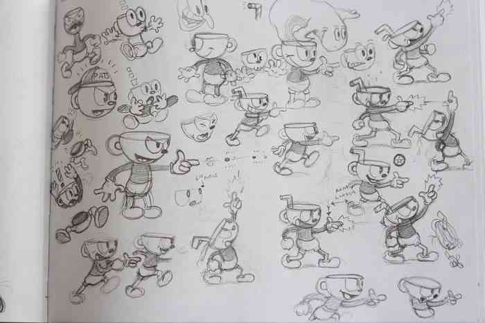 Cuphead Sketch (700x)