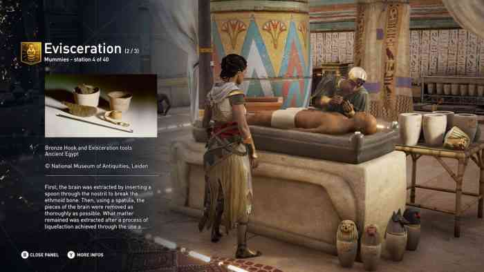 Assassin's Creed Origins discover tour main screen