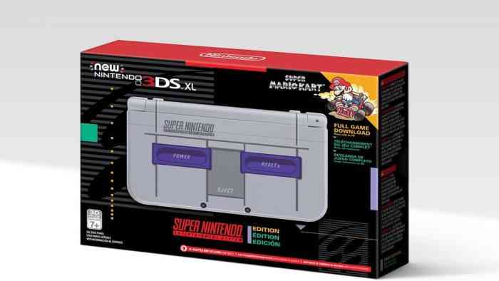 SNES New Nintendo 3SX XL box new 3ds