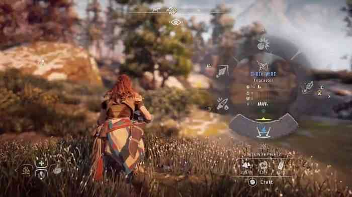 Horizon Zero Dawn Crafting