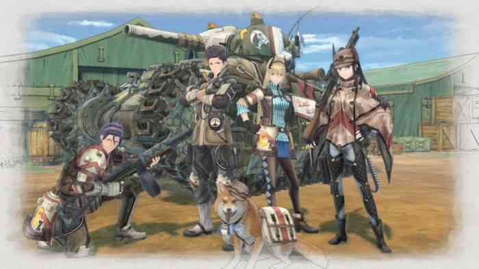 Valkyria Chronicles 4 main screen