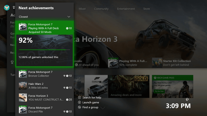 Xbox One Update Next Achievements