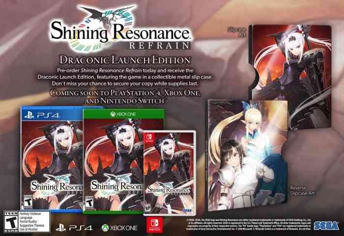Shining Resonance Refrain Alighting To Switch In Summer