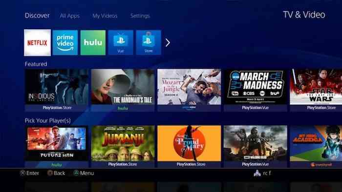 PS4 TV and Video Experience