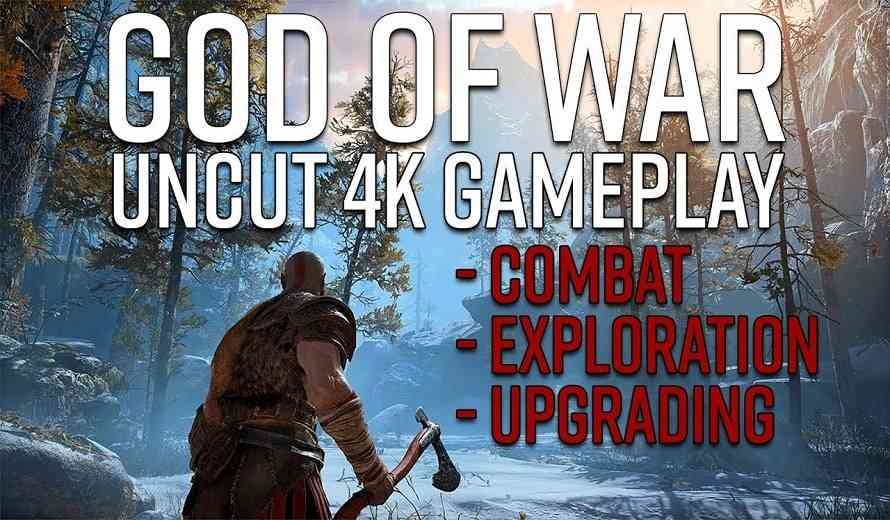 Shut Up Kratos is Not Dead; New God of War Gameplay in Glorious 4K Looks Amazing