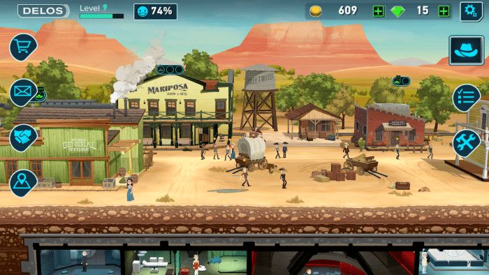 Westworld mobile game screenshot