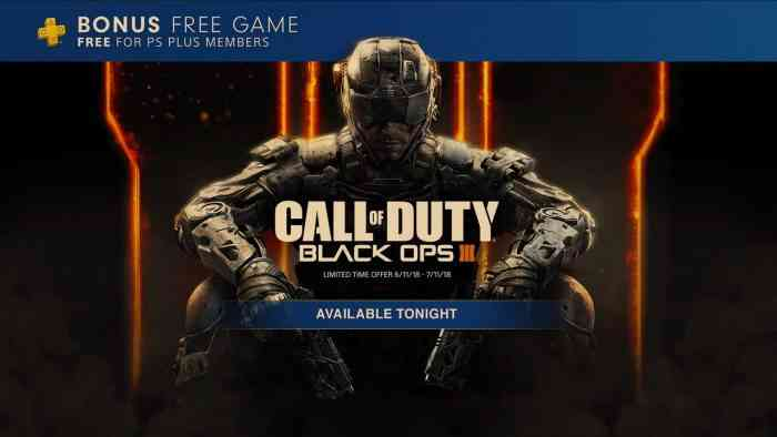 Black Ops 3 comes to PS Plus tonight