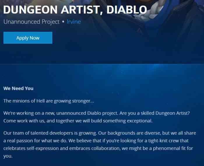 Diablo Job Listing