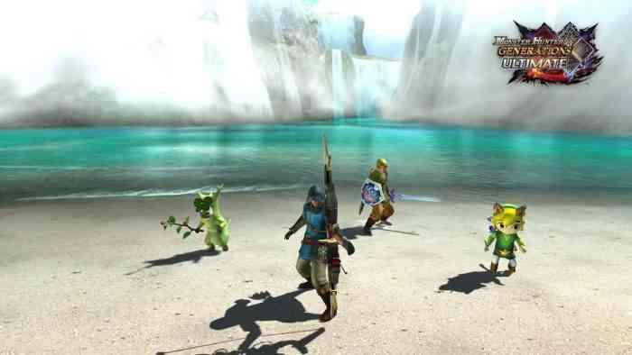 Legend of Zelda Monster Hunter crossover