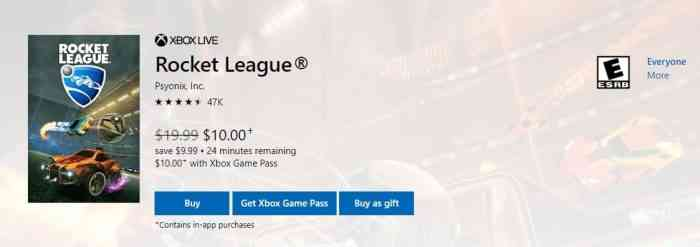 Rocket League Game Pass