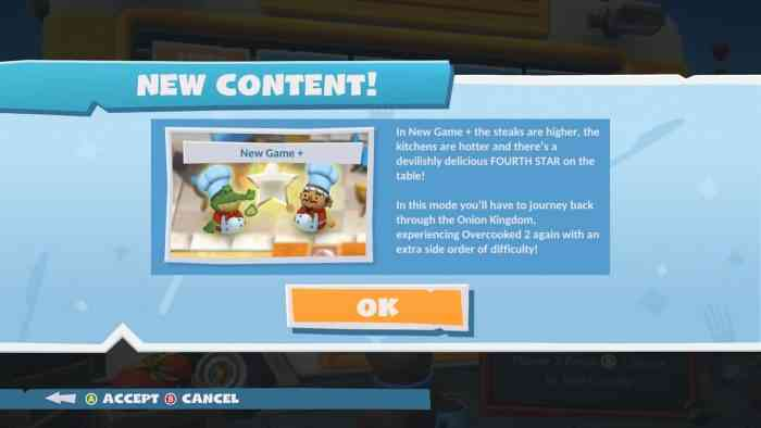 Overcooked 2 New Game Plus Mode