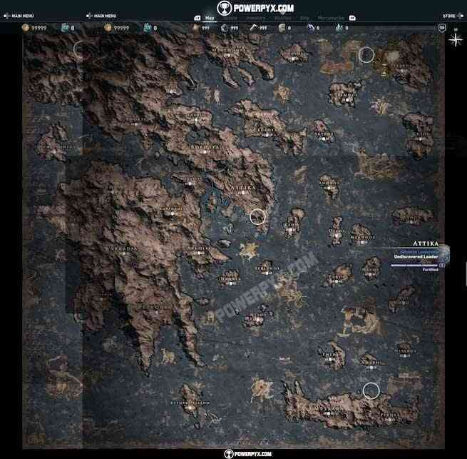 assassin's creed odyssey full map