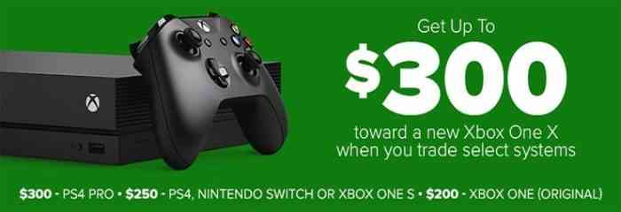 gamestop trade in xbox one x
