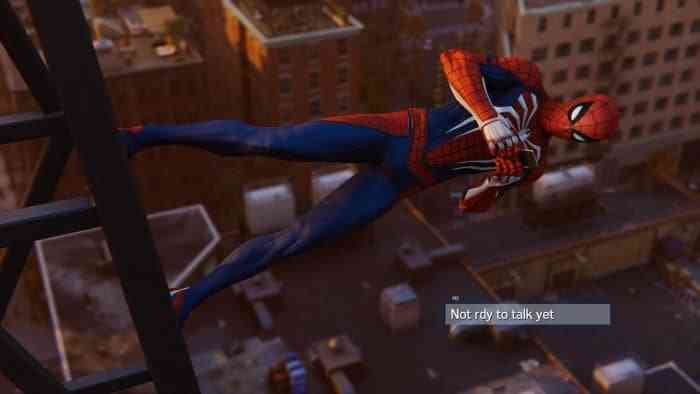 Spider-Man PS4 Texting