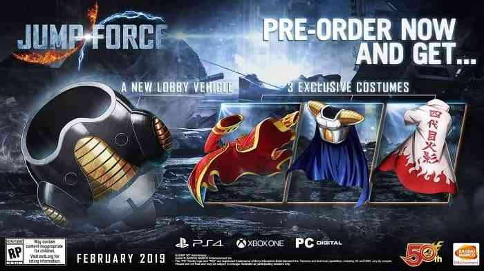 Jump Force Pre-Order Bonus