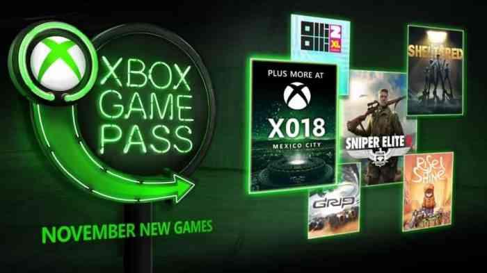 Game Pass November 2018