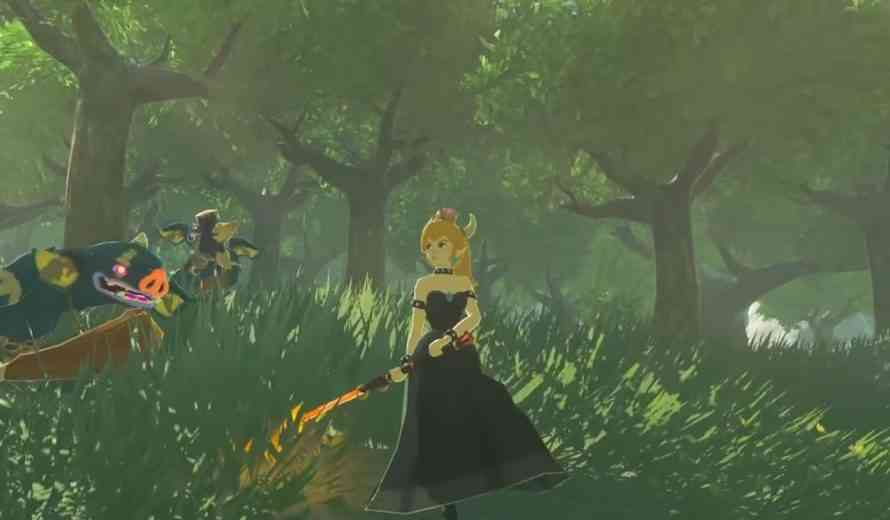 Bowsette Is Playable in Zelda: Breath of the Wild Thanks